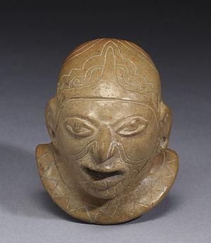 Pre-Columbian Ecuador - Guangala Head in Walters Art Museum.