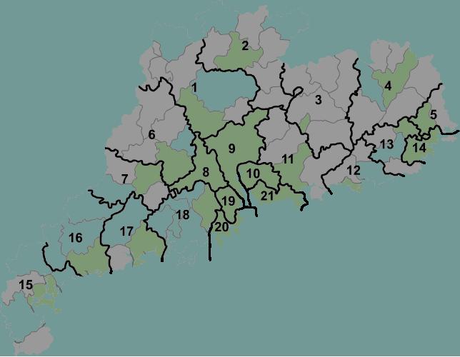 Guangdong prfc map