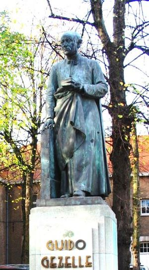 Guido Gezelle - statue of Gezelle in Bruges, Jules Lagae, sculptor