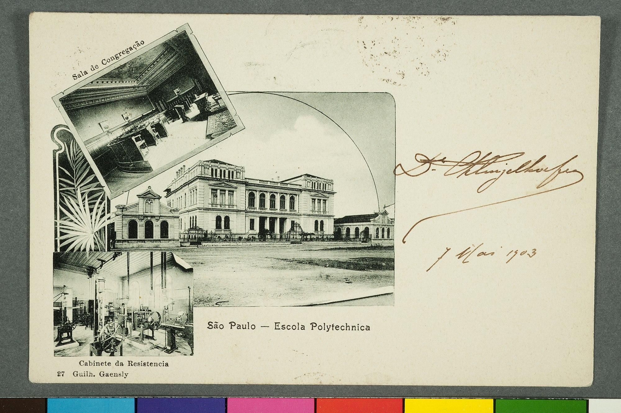 São Paulo - Escola Polytechnica Sala de Congregação. Cabinete da Resistencia