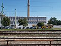 Gyárváros railway station, fomer cannon factory site and Ikarus 280, 2018 Győr.jpg