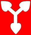 Hármas hárslevél (heraldika) fr -- trois feuilles de tilleul.PNG