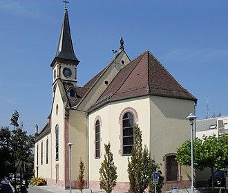 Hésingue - Image: Hésingue, Eglise Saint Laurent 1