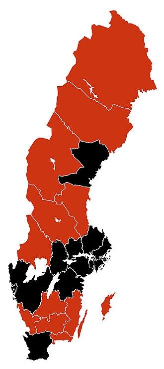 2009 flu pandemic in Europe - Image: H1N1 Sweden Map