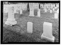 HEADSTONES IN SECTION D. VIEW TO EAST. - Alexandria National Cemetery, 209 East Shamrock Street, Pineville, Rapides Parish, LA HALS LA-4-26.tif