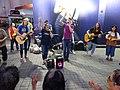HK 尖沙咀 TST 梳士巴利道 Salisbury Road street musical singers band October 2016 DSC 001.jpg