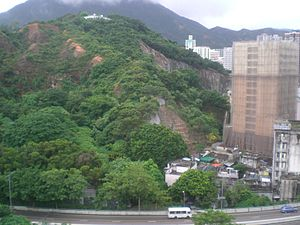 A Kung Ngam - The mountain is named A Kung Ngam in Shau Kei Wan.
