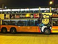 HK Sheung Wan Hong Kong-Macau Ferry Piers bus terminus night CityBus body ads 超力國際食品 Chewy International Aug-2013.JPG