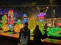 HK TST Salisbury Garden night fountain lighting visitors Feb-2013.JPG