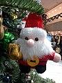 HK TST Silvercord Centre Christmas tree Santa Claus in art Ornament Dec-2012.jpg