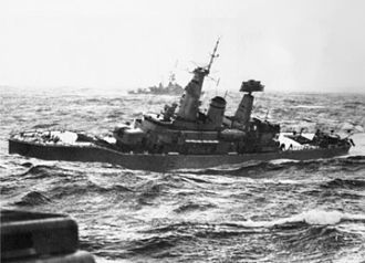 HMS Euryalus (F15) - Euryalus in the Bay of Biscay, 1972