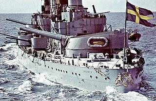 HSwMS <i>Gustav V</i> Swedish Sverige class coastal defence ship