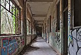 Hallway inside an abandoned military building in Fort de la Chartreuse, Liege, Belgium (DSCF3390-hdr).jpg