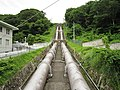 Haneo hydroelectric power station penstock.jpg