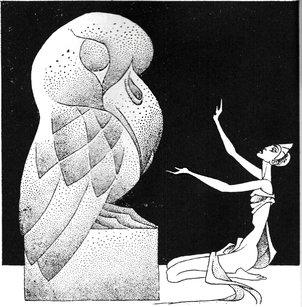 Hannes Bok Dragon Moon Weird Tales January 1941