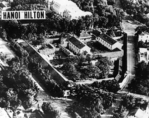 Hỏa Lò Prison - The Hanoi Hilton in a 1970 aerial surveillance photo