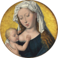 Hans Memling - The Virgin Mary nursing the Christ Child (after light cleaning 2014-15).png