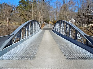 Hares Hill Road Bridge - New deck on the bridge, 2011