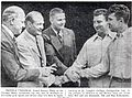 Harold and Ray Schumacher with George Halas.jpg