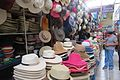Hats stand in the San Camilo market.jpg