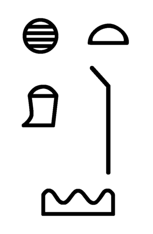 Hill-country (hieroglyph) - Name of Hatti in hieroglyphs. (from Merneptah Stele)