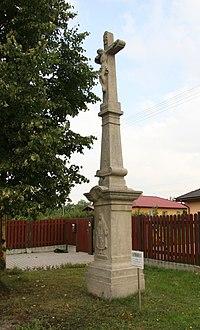 Havířov, krucifix s reliéfem, na ul. Padlých hrdinů (1).JPG