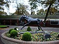 Haydock Park Racecourse, Statue of Be Friendly - geograph.org.uk - 606615.jpg