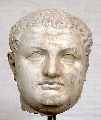 Colossal head of Titus, son of Vespasian. Glyptothek, Munich Head Titus Glyptothek Munich 338.jpg