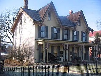 National Register of Historic Places listings in Clinton County, Pennsylvania - Image: Heisey House in Lock Haven, Pennsylvania