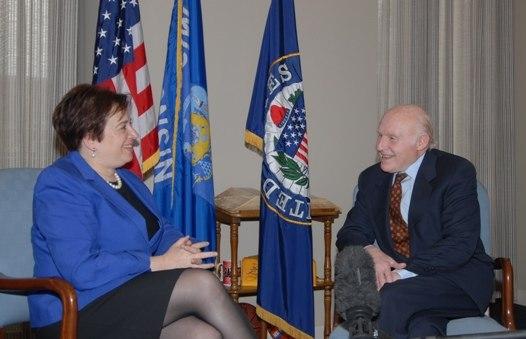 Herb Kohl with Elena Kagan