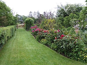 English: Herbaceous border at Coolaught