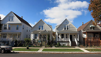 Hermosa, Chicago - A typical block in Hermosa