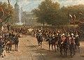 Het Frederiksplein te Amsterdam tijdens de intocht van koningin Wilhelmina, 5 september 1898 Rijksmuseum SK-A-1849.jpeg