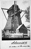 het steken van een nieuwe as tijdens restauratie van de molen - aalsmeer - 20003430 - rce