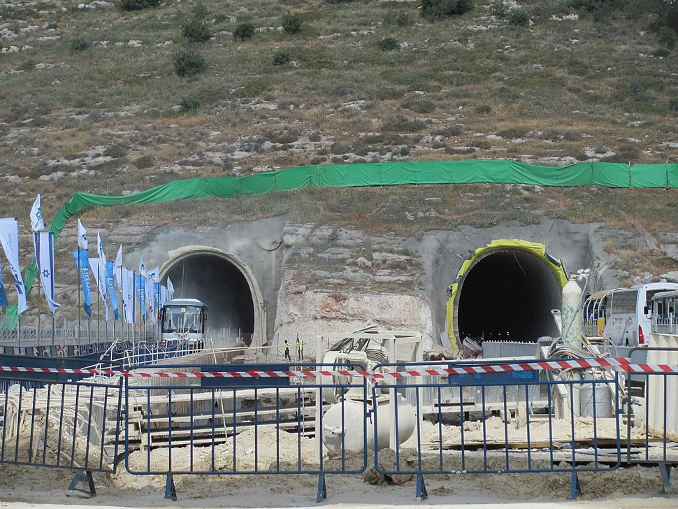 High-speed railway to Jerusalem Tunnel 2 East Portal