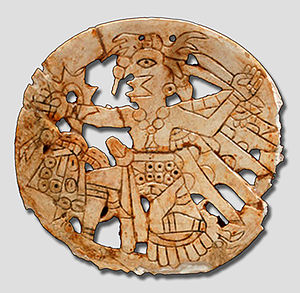 Southeastern Ceremonial Complex - Hightower style gorget from Etowah