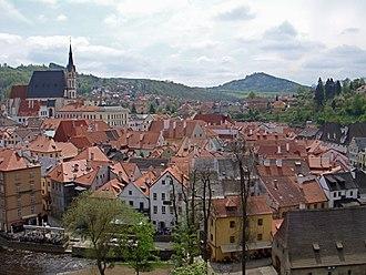 Český Krumlov - View of Český Krumlov from a hill