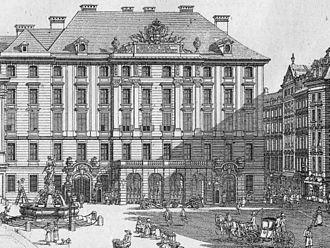 Hofkriegsrat - Hofkriegsrat building in Vienna, 1775