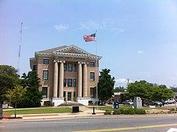Domstolbygningen i Hoke County.