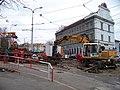 Holešovice, Partyzánská, rekonstrukce tramvajové trati (01).jpg
