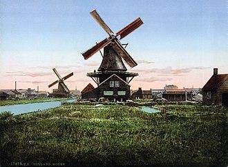 Zaanstad - Zaanstad windmill at the beginning of the 20th century