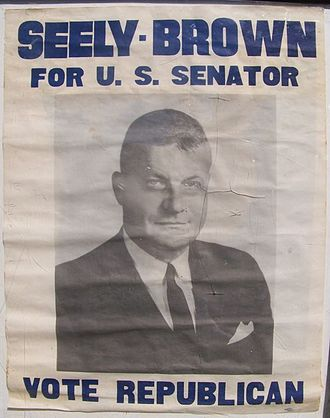 Horace Seely-Brown Jr. - 1962 election poster
