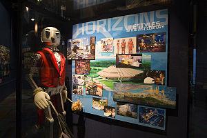 Horizons (Epcot) - Horizons glass cased display.
