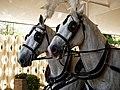 Horse drawn hearse horses City of London Cemetery 5.jpg
