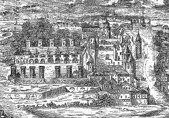 Hôtel des Tournelles - The Hôtel des Tournelles in the 14th century