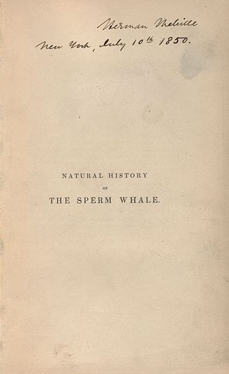 Moby-Dick - Melville's copy of Natural History of the Sperm Whale, 1839