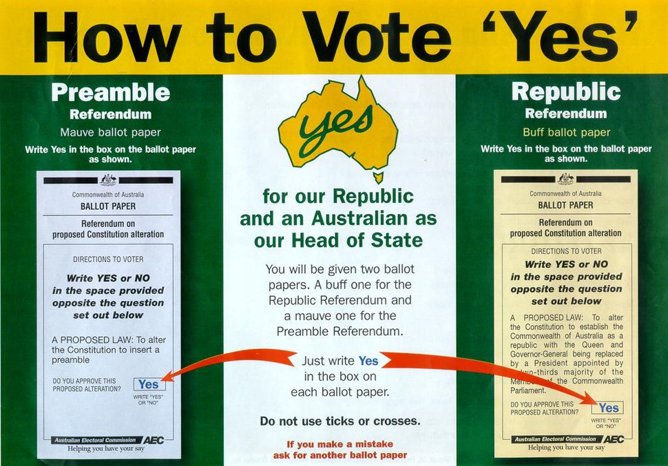 How to Vote Yes 1999