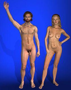 Imágen generada en computadora de la pareja humana