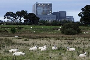 Hunterston B nuclear power station - The Hunterston B AGR reactor building.