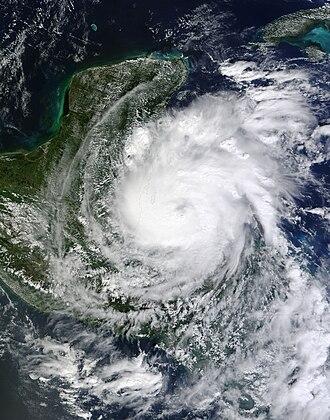Hurricane Richard - Image: Hurricane Richard 2010 10 24 1645Z